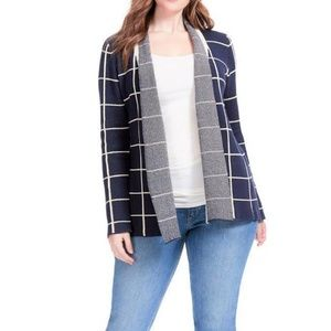 1X MODCLOTH SIMPLY SNUGGLY PLAID CARDIGAN sweater